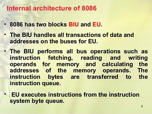 8086 micro processor for Internal architecture of 8086