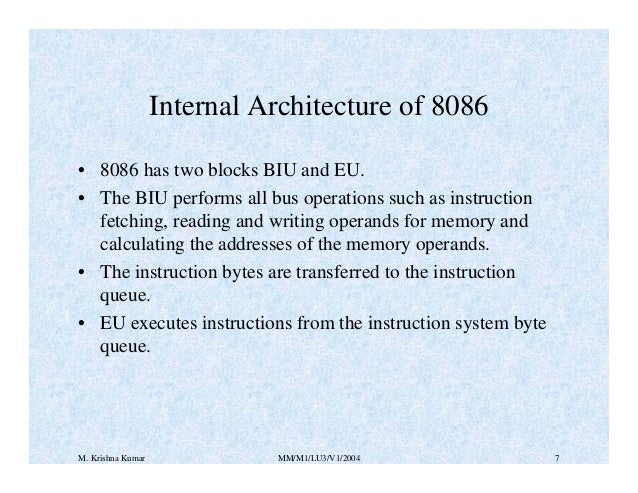 8086 microprocessor for Internal architecture of 8086