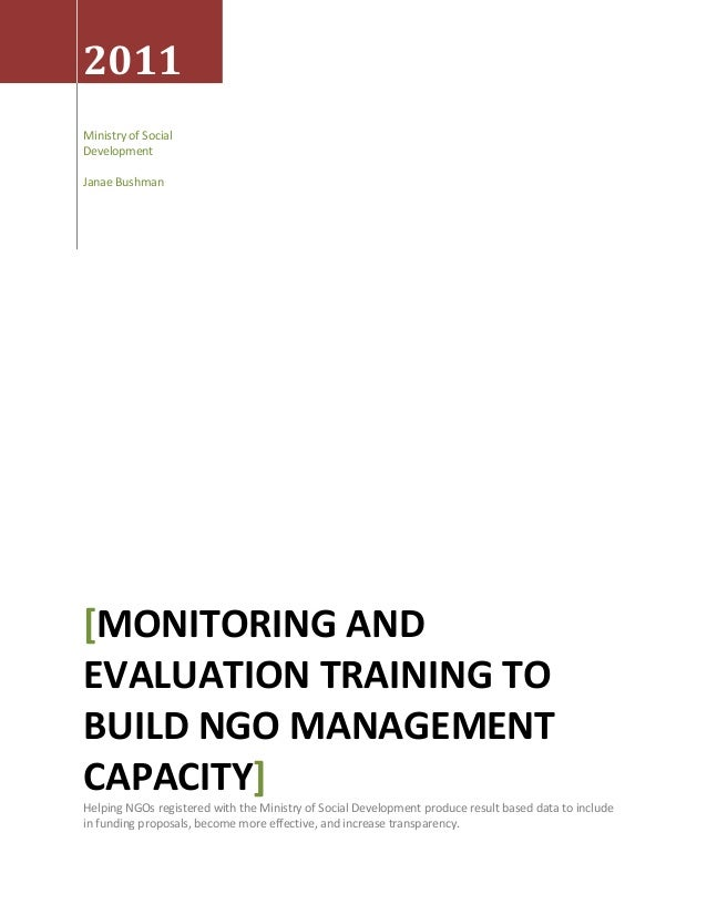 Monitoring and Evaluation Proposal for the Jordanian