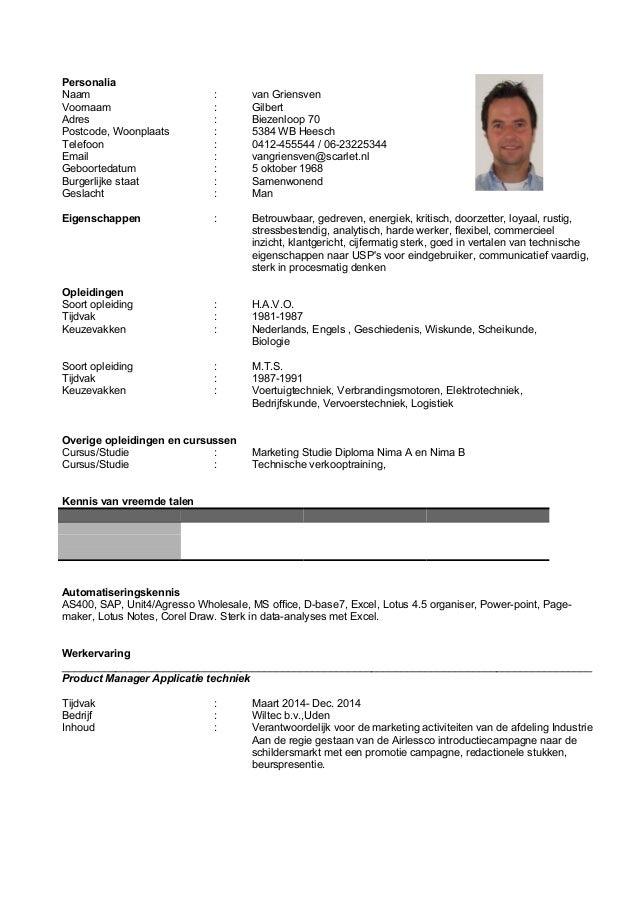 Curriculum Vitae uitgebreid G.H.J. van Griensven