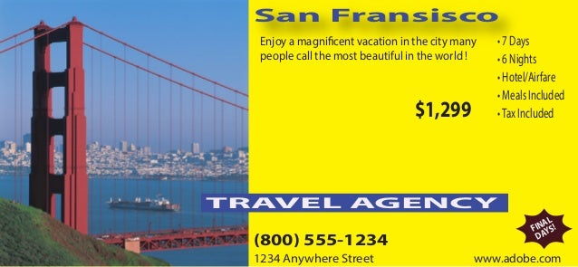 San Fransisco Enjoy a magnificent vacation in the city many people call the most beautiful in the world ! • 7 Days • 6 Nig...