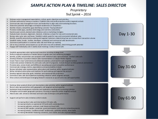 Sample Action Plan And Timelines Format