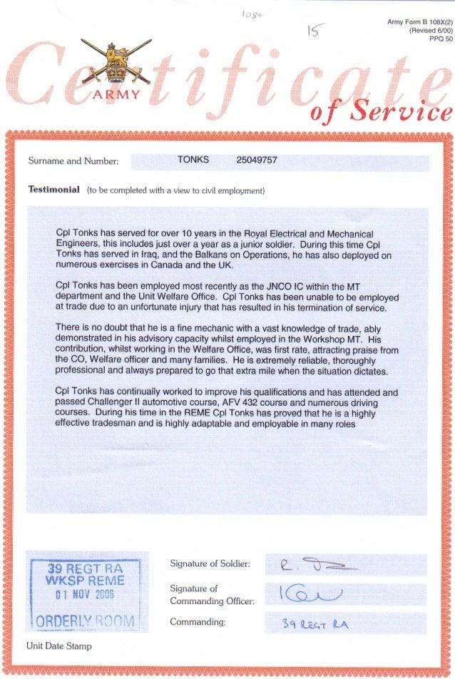 british army certificate of service testamonialpdf 1 638