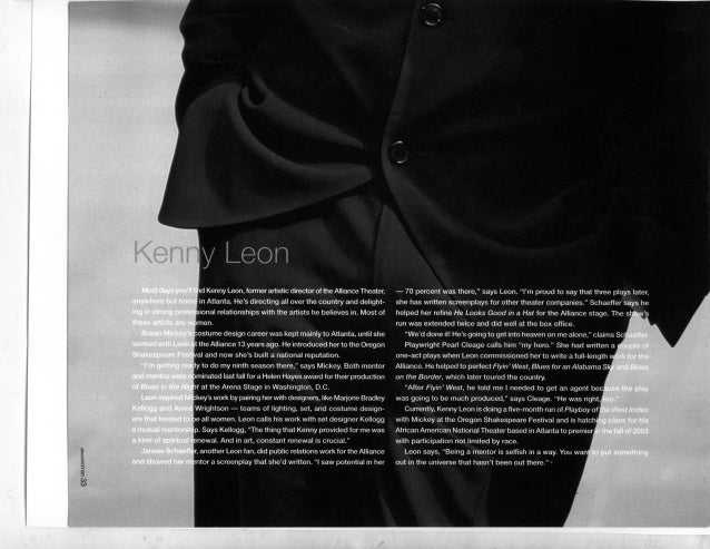 Men Who Mentor Women--Kenny Leon