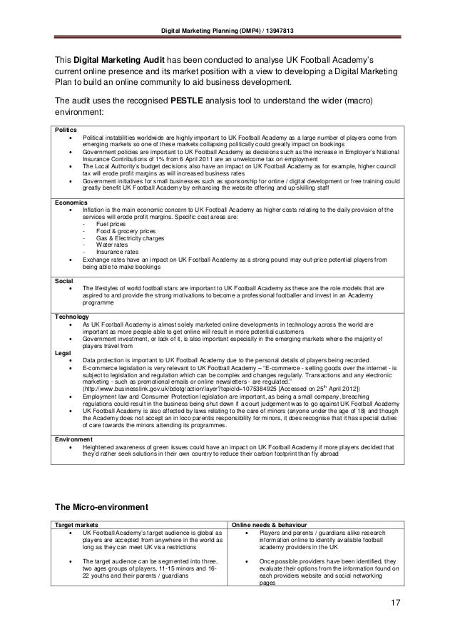 marketing audit 17 - Food Preparer Job Description