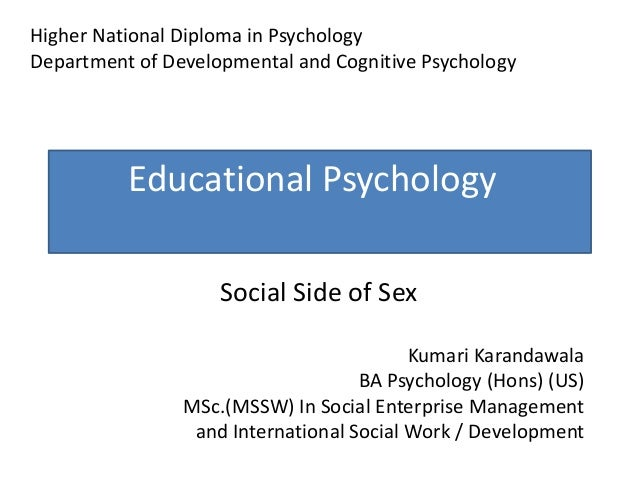Social psychology on sex