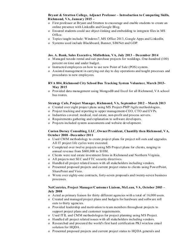 costondorsey_resume_PM_BSA_IT Slide 2