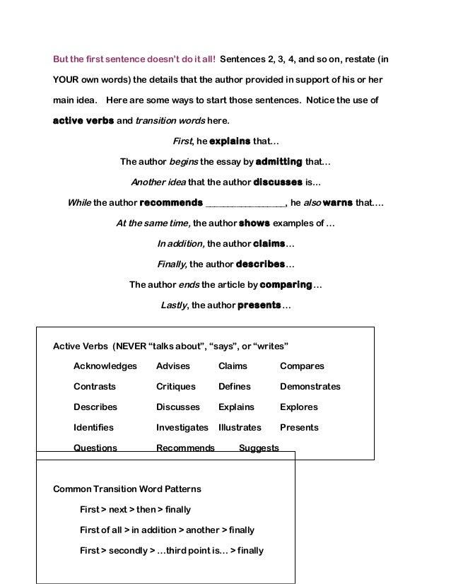 Summarizing Worksheets – Summarizing Worksheets