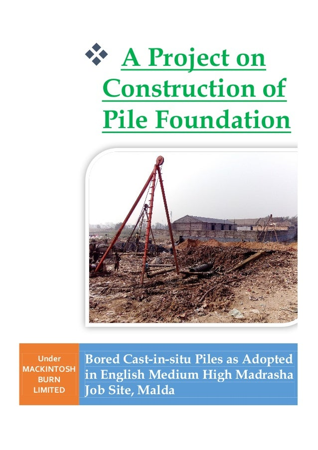 What Is Bored Pile Foundations Pdf