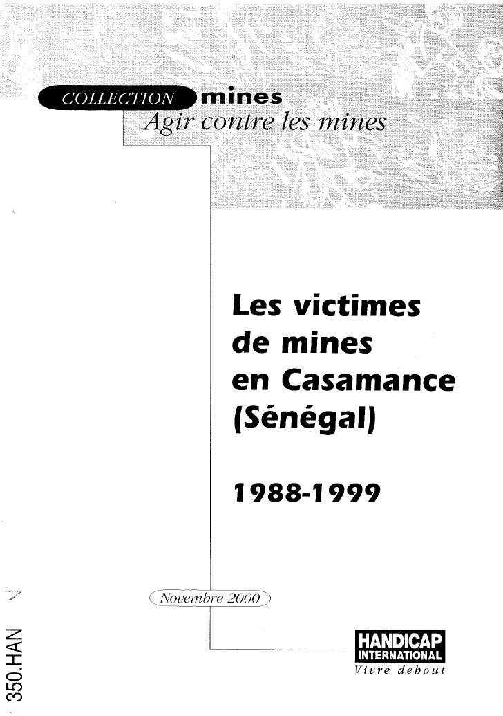 HI 80f - Les victimes de mines en Casamance (Sénégal) : 1988-1999 - version french)