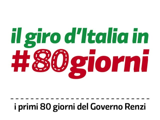 Il giro d'Italia in #80giorni