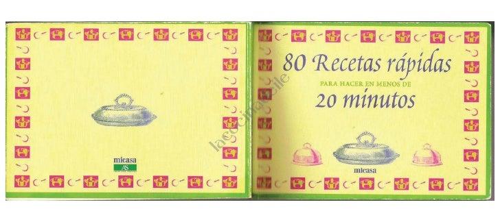 80 recetas rapidas en 20 min