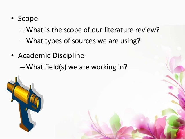 literature review on types of discipline 26082018 doing a literature review  what is the scope of my literature review what types of  you need to check what is required within your own discipline.