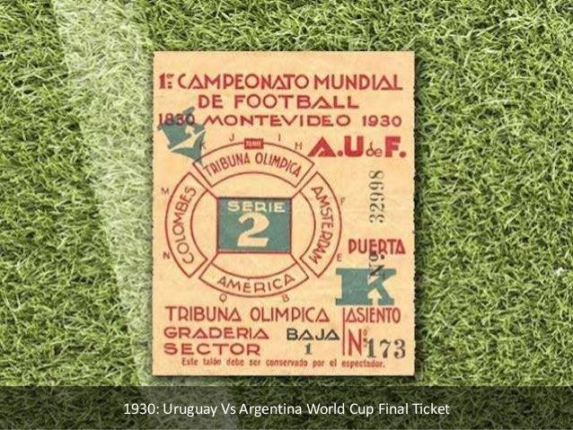 1930: Uruguay Vs Argentina World Cup Final Ticket