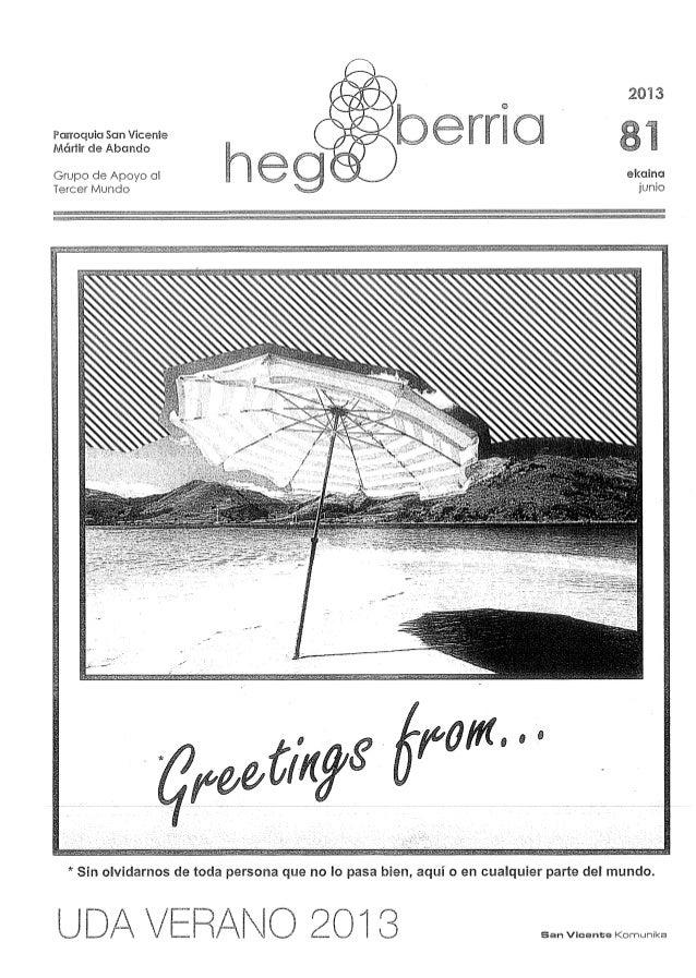 HegoBerriak 81 . junio 2013