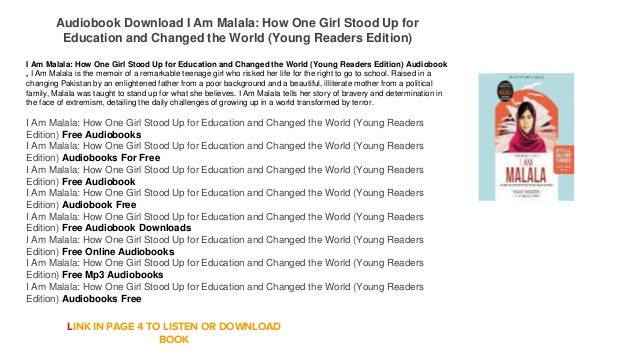 I Am Malala Young Readers Edition How One Girl Stood Up for Education and Changed the World