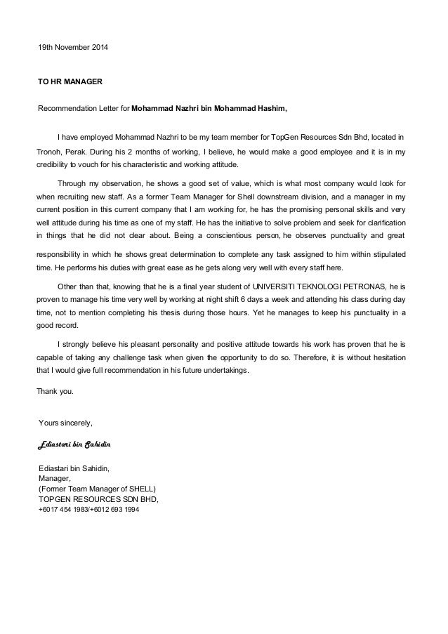Mohammad Nazhri Bin Mohammad Hashim Resume