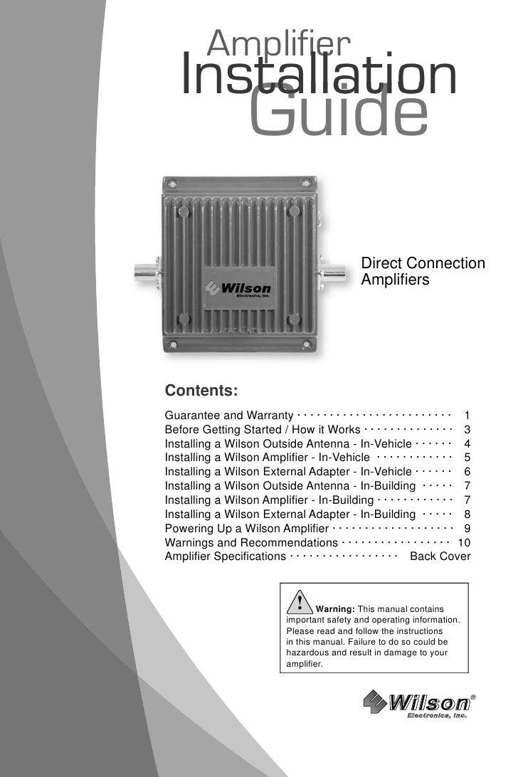 Amplifier    Installation      stallat      stallatio                    Guide                                            ...