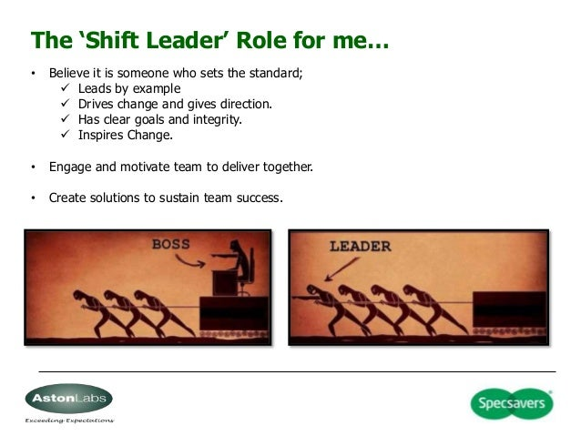 5 the shift leader role