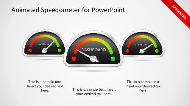 Slidemodel animated speedometer powerpoint template dashboarddashboard animated speedometer for powerpoint this is a sample text insert your desired text here toneelgroepblik Choice Image