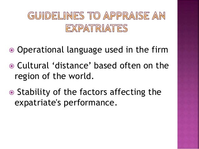 a discussion on the necessary qualities of expatriate managers Expatriate performance management from mnes of respect for seniors are the key characteristics of expatriate management is a major focus of.
