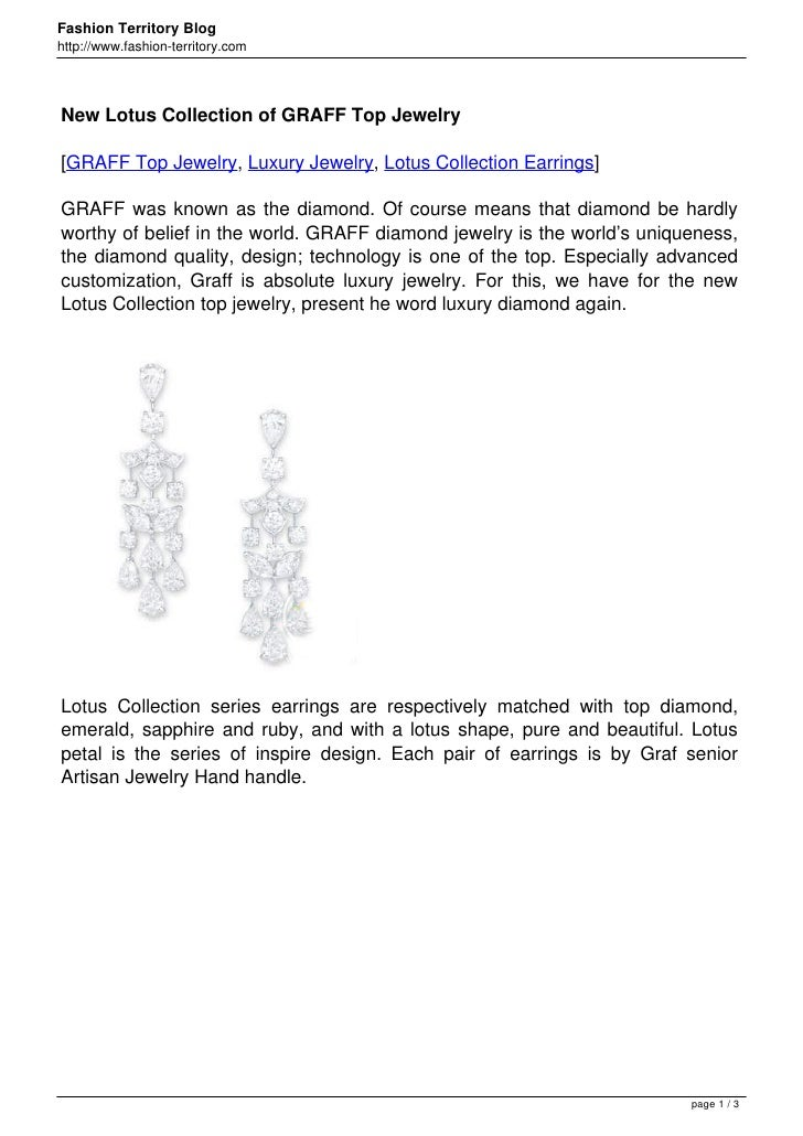Fashion Territory Bloghttp://www.fashion-territory.comNew Lotus Collection of GRAFF Top Jewelry[GRAFF Top Jewelry, Luxury ...