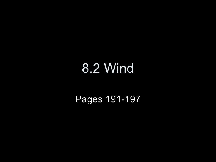 8.2 Wind Pages 191-197