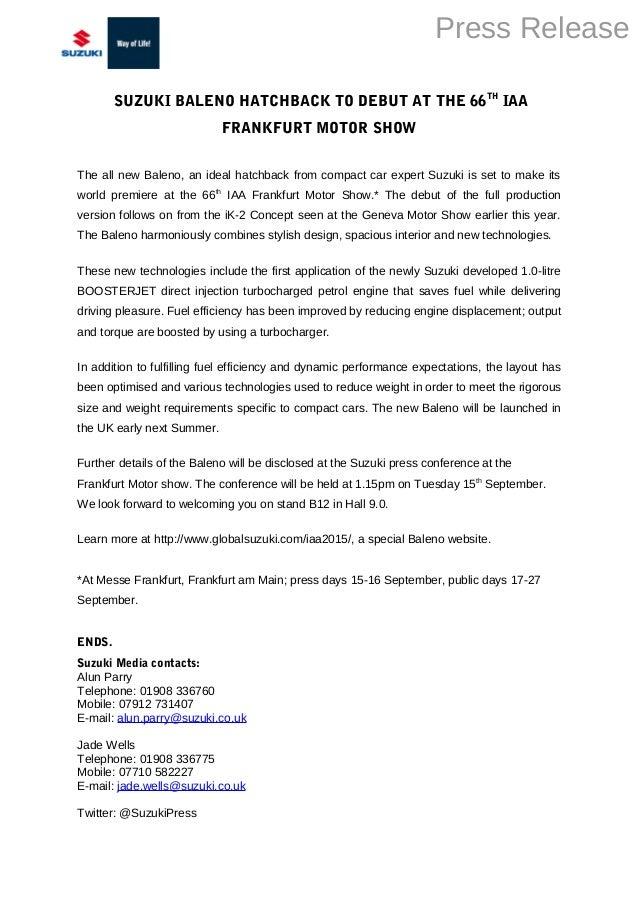 Maruti Suzuki Baleno - Name Announcement