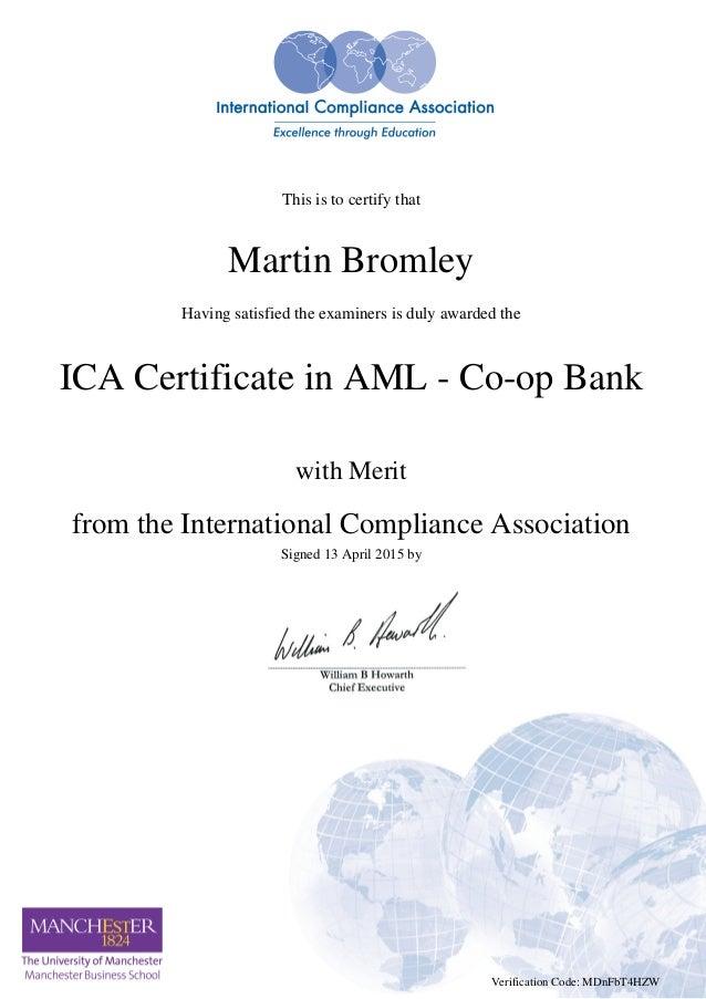 Aml Certificate