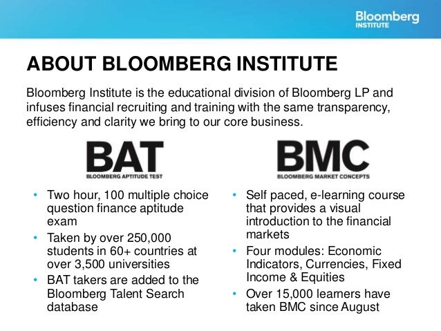 bloomberg market concepts
