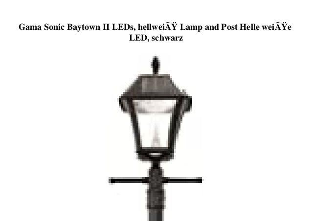 Gama Sonic Baytown II LEDs, hellweiß Lamp and Post Helle weiße LED, schwarz