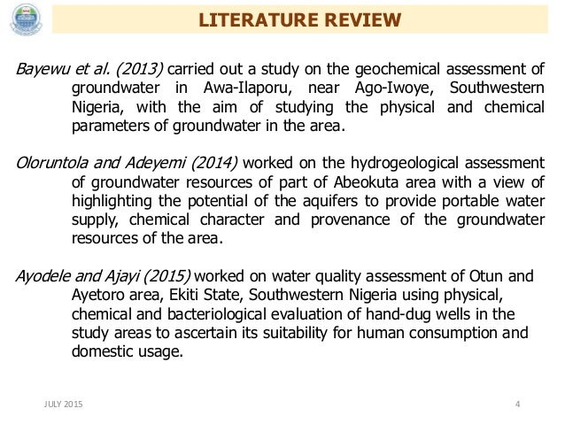 thesis on groundwater quality analysis Water quality index and correlation study for the assessment of water quality and its parameters of yercaud analysis study of drinking water quality -mukalla city collection of ground water samples from open wells, bore wells, hand pumps.