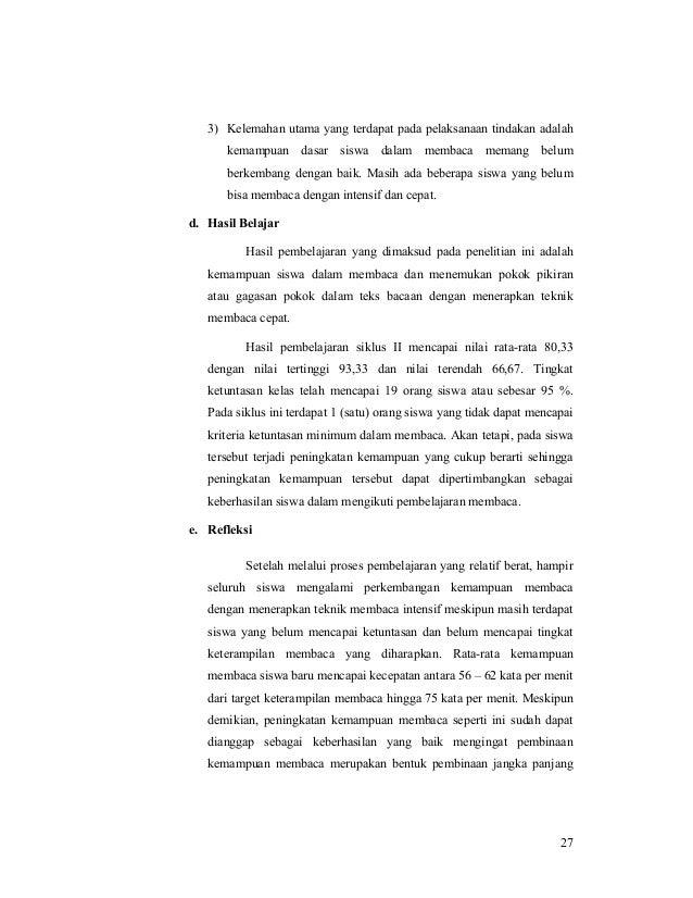 Efektivitas Penerapan Teknik Membaca Intensif dalam Menemukan Gagasan…