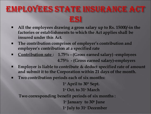 All the employees drawing a gross salary up to Rs. 15000/-in the factories or establishments to which the Act applies shal...