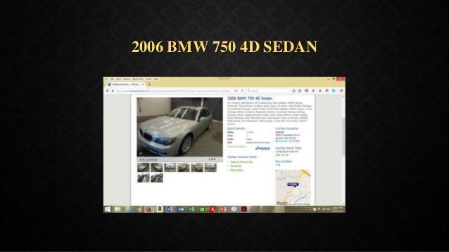 2006 BMW 750 4D SEDAN