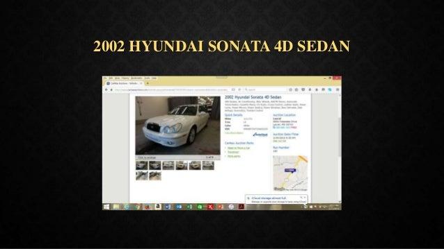 2002 HYUNDAI SONATA 4D SEDAN
