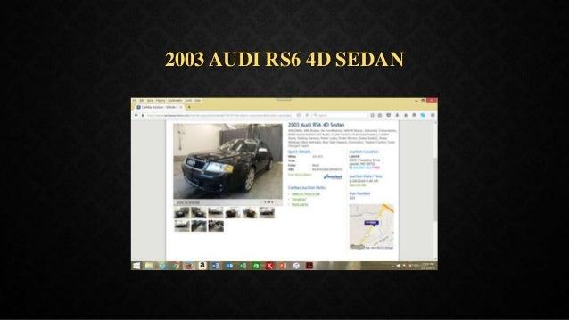 2003 AUDI RS6 4D SEDAN