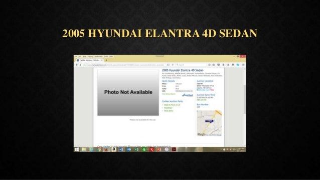 2005 HYUNDAI ELANTRA 4D SEDAN