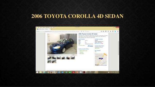2006 TOYOTA COROLLA 4D SEDAN