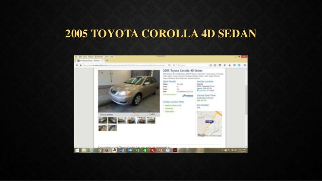 2005 TOYOTA COROLLA 4D SEDAN