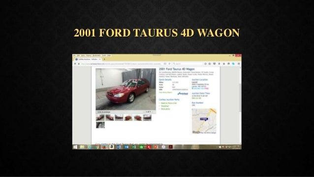 2001 FORD TAURUS 4D WAGON