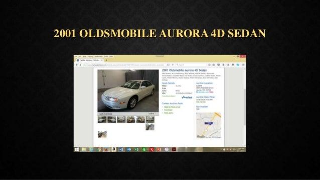 2001 OLDSMOBILE AURORA 4D SEDAN