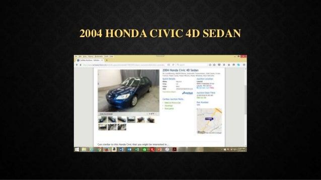 2004 HONDA CIVIC 4D SEDAN
