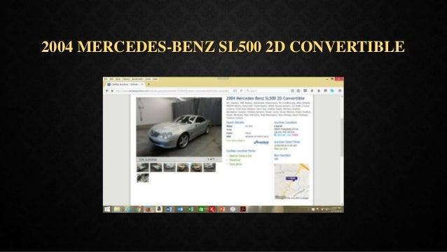 2004 MERCEDES-BENZ SL500 2D CONVERTIBLE