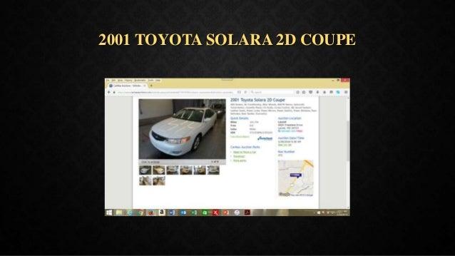 2001 TOYOTA SOLARA 2D COUPE