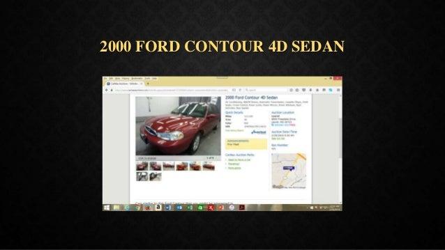 2000 FORD CONTOUR 4D SEDAN