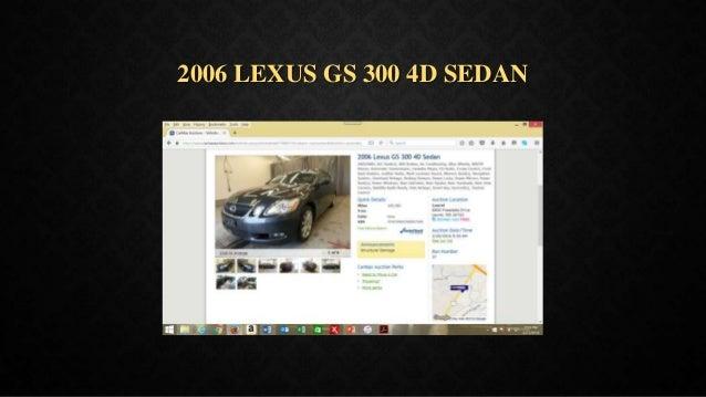 2006 LEXUS GS 300 4D SEDAN