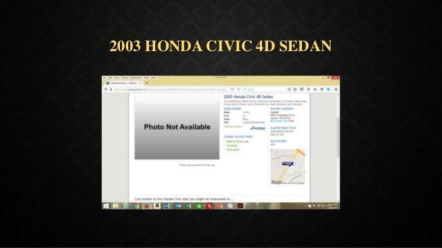 2003 HONDA CIVIC 4D SEDAN
