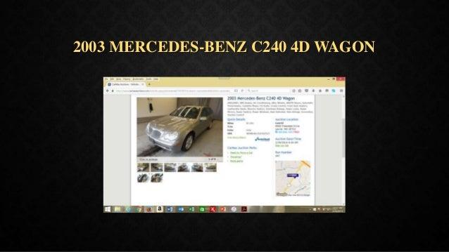2003 MERCEDES-BENZ C240 4D WAGON