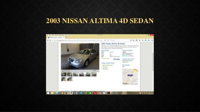 2003 NISSAN ALTIMA 4D SEDAN